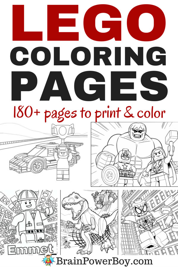 180+ Free Printable LEGO Coloring Pages!