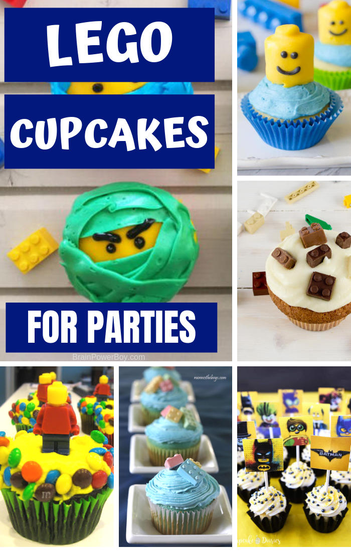 These LEGO cupcakes will be the hit of the party. The only hard part is deciding while fun design to make. Yum!