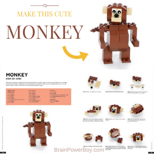 Would you like to make a LEGO Monkey? Review of Awesome LEGO Creations with Bricks You Already Have. Make this monkey and many other animals. He is just so cute!