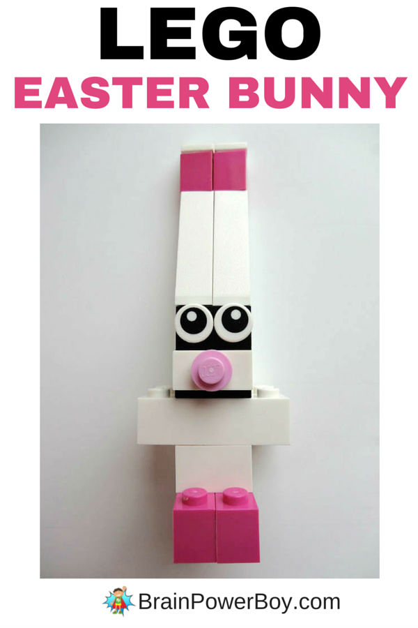 Make a LEGO Easter bunny! This is a great project for kids. It is easy to build and goes together quickly. Click image for LEGO Easter Rabbit building instructions.