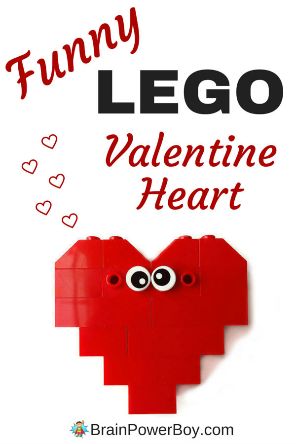 Easy to make Funny LEGO Valentine Heart. Video instructions include. Click through to view and build your own. Sweet!