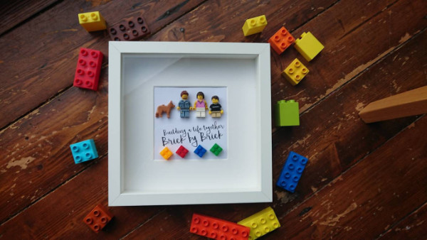 lego family portrait gift