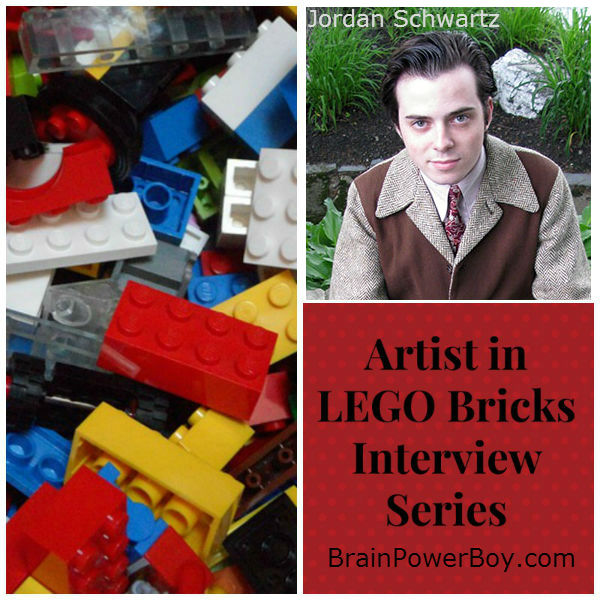 Artist in LEGO Bricks Interview with Jordan Schwartz. See his creations and hear what he has to say about LEGO and learning.