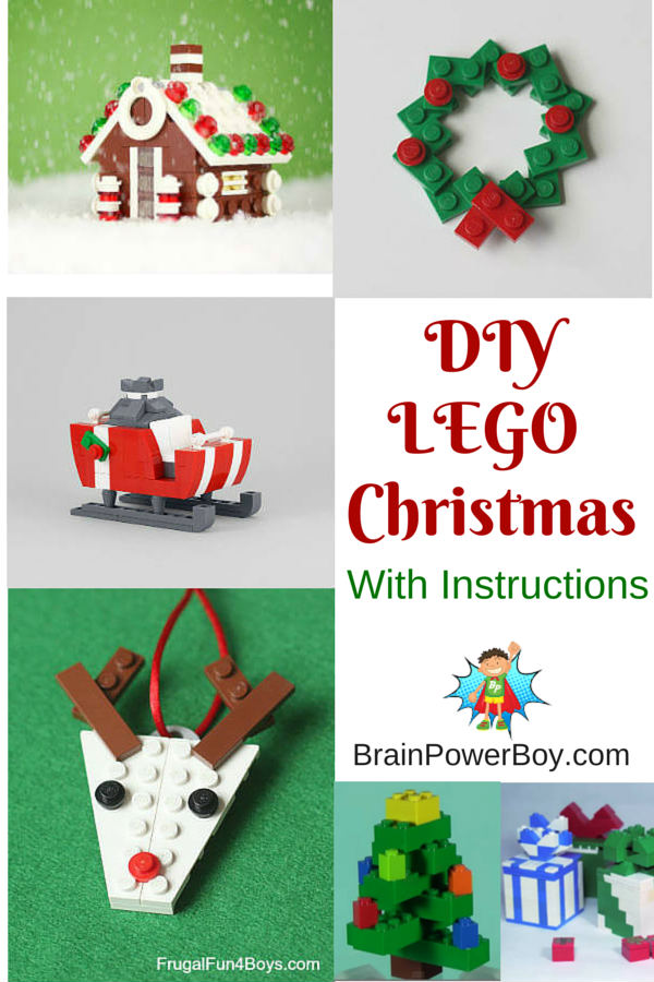 diy lego christmas projects includes instructions and videos to add some lego fun