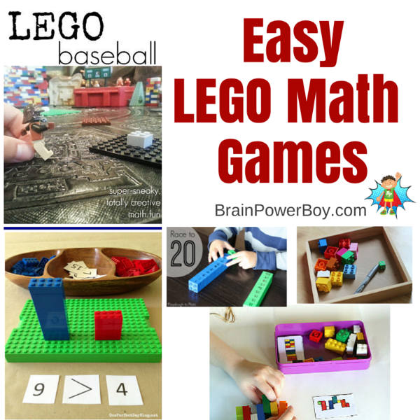LEGO Math Games that are quick and easy to set up and oh so fun to play. | Brain Power Boy