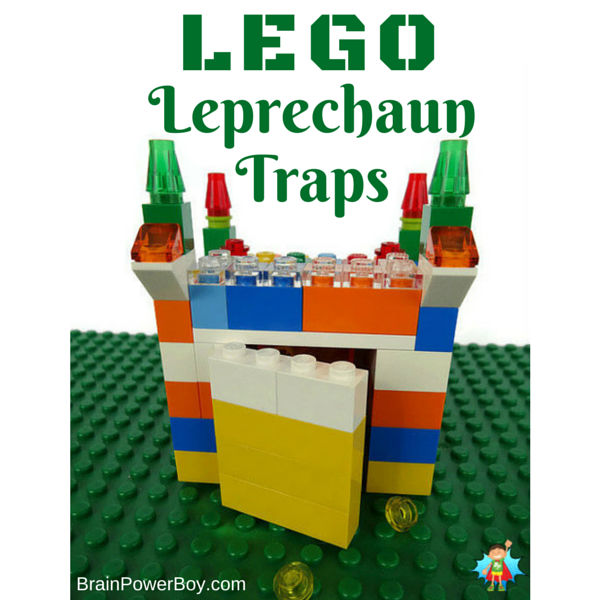 Make your own LEGO Leprechaun Traps for some St. Patrick's Day fun!