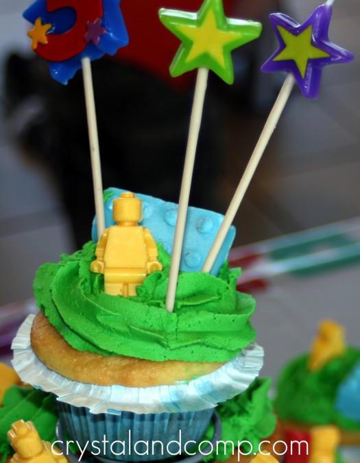 LEGO Man Cupcakes