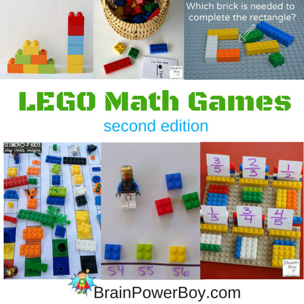 Collection of super fun, hands-on LEGO Math Games. LEGO Learning at its best.