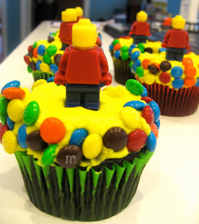 LEGO M&M and Minifigure Cupcakes