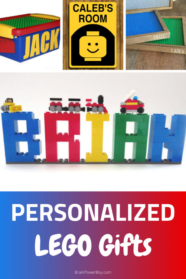 LEGO Signs, Storage, Tray and Name made out of bricks