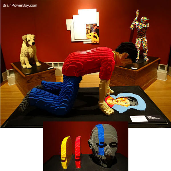 4 LEGO sculptures from Nathan Sawaya's The Art of the Brick. Review and additional pictures.