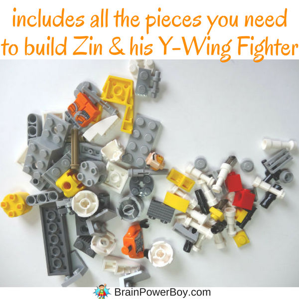 Get exclusive minifigure Zin and build the exclusive LEGO set Y-Wing Starfighter included with the DK Build Your Own Adventure book! (ad)