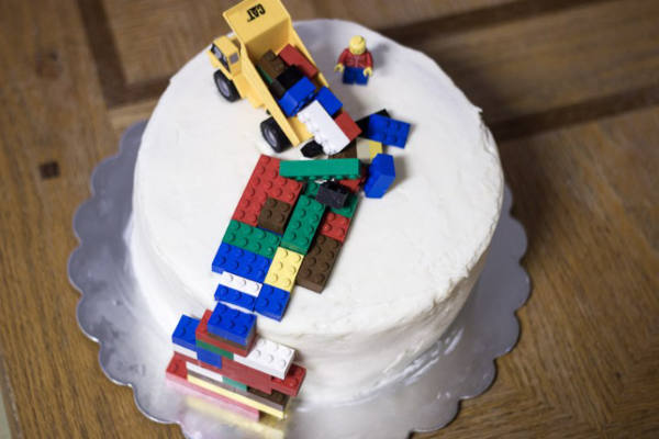 LEGO Pinata Construction Cake
