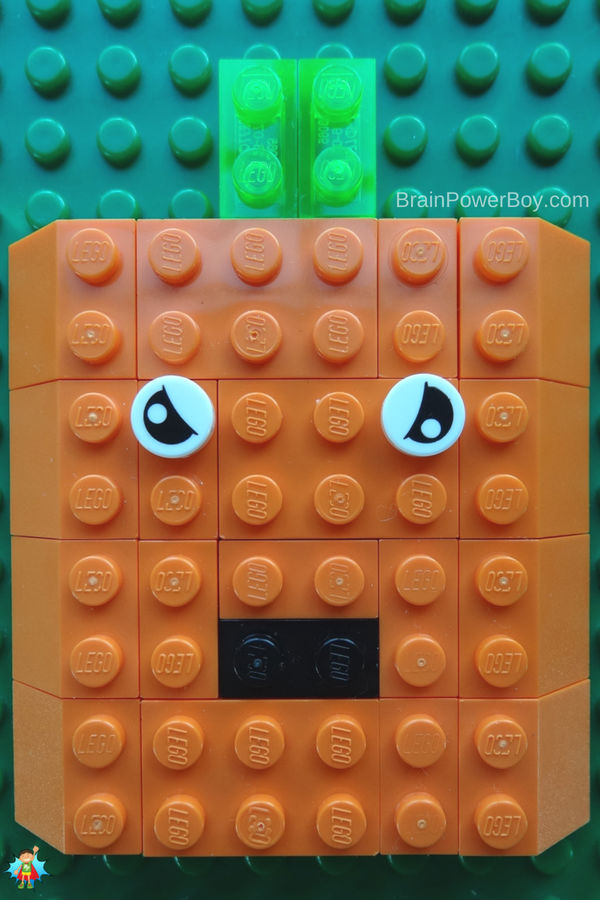 Scary Halloween Pumpkin LEGO mosaic! Easy and fun to make!!