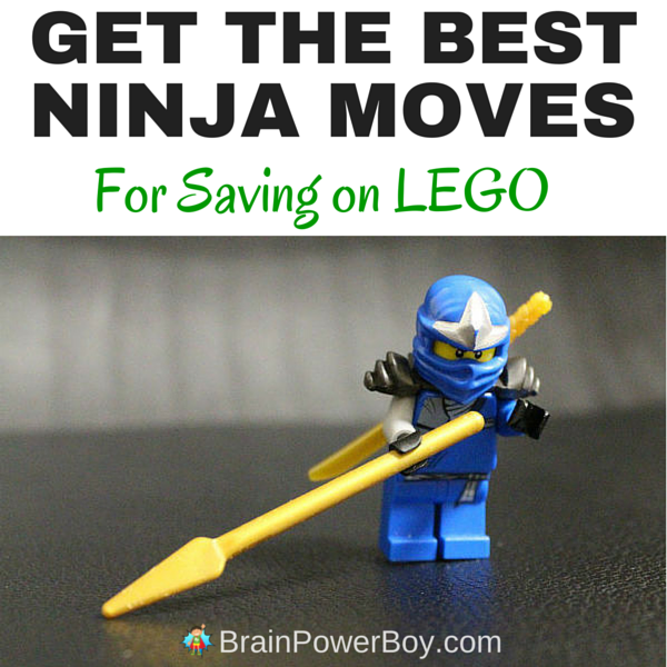 Kids NEED more LEGO? Need to brush up on your ninja savings moves? This article has all the best tips and even breaks it down by store to make it easy. Click the image so you can save on LEGO like a ninja!