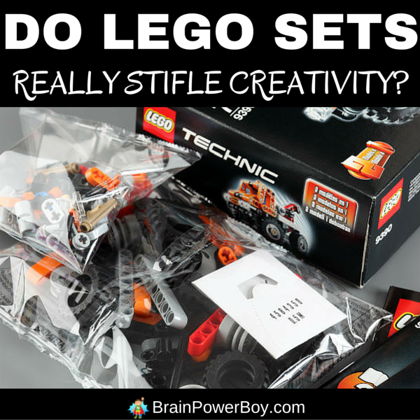Do LEGO sets really stifle creativity? Are sets ruining your child's ability to use his imagination ? Should you stop buying sets and stick to boxes of bricks? Click to read.