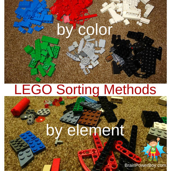 What sorting method is best to use when you are trying to organize your boy's LEGO? Click through for a series on figuring it all out.