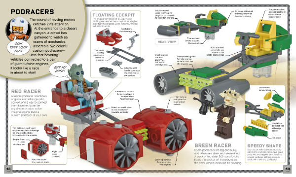 Pages from LEGO Star Wars Build Your Own Adventure - click to read a detailed review. (ad)