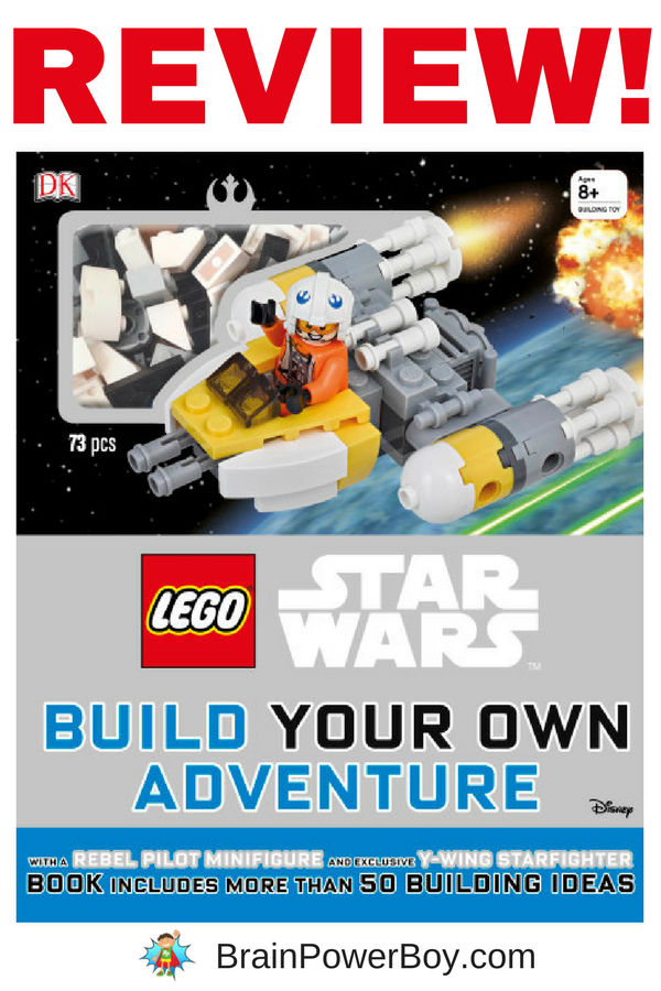 Review of LEGO Star Wars Build Your Own Adventure published by DK. (ad) You have to see the cool items that come with this book!