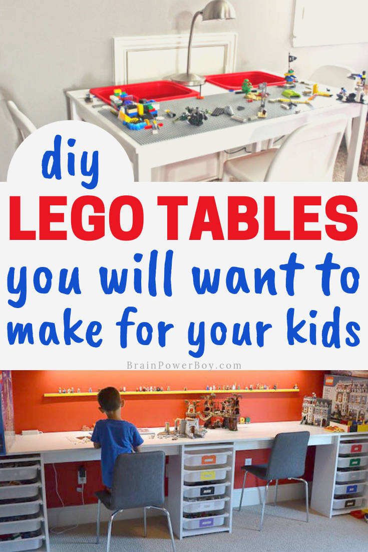 You are totally going to want to make one of these LEGO Tables for your kids. Use the IKEA hacks to make it easy and inexpensive!