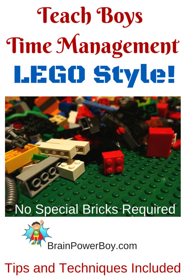 Use LEGO to teach boys time management. Brilliant!