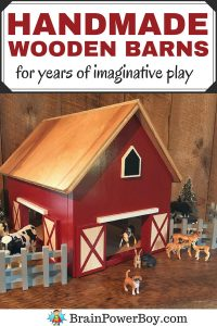 We found some beautiful HANDMADE wooden barns and are so excited to show them to you. If you love wooden toys and want a wooden barn that will be played with for years and years, take a look at these. They are simply marvelous.