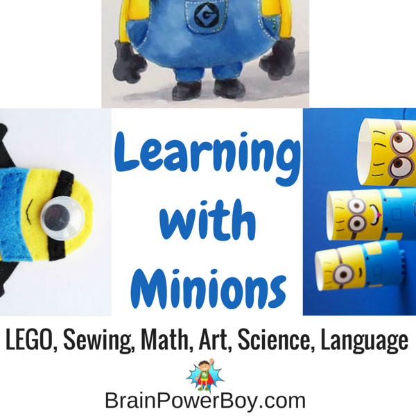 Peaking in or upside down those Minions sure are a hoot! Try these 9 super fun learning activities that feature the little yellow fellows.