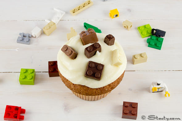 Lego Cupcakes with Brick Chocolate