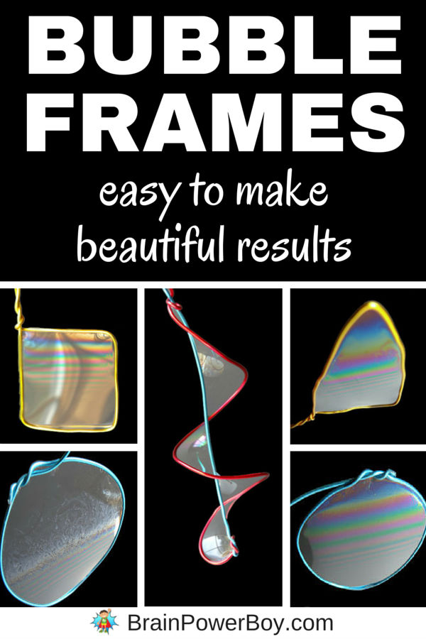 Try this easy to make bubble frame project that kids will really love. It is fun to watch the bubble colors moving and swirling. Includes a super bubble recipe that is prefect for this activity.