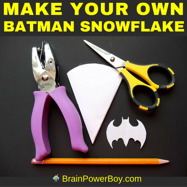 "Holy snowflake, Batman! Make your own Batman snowflake! Easy to follow instructions for a ""super"" Batman snowflake pattern."