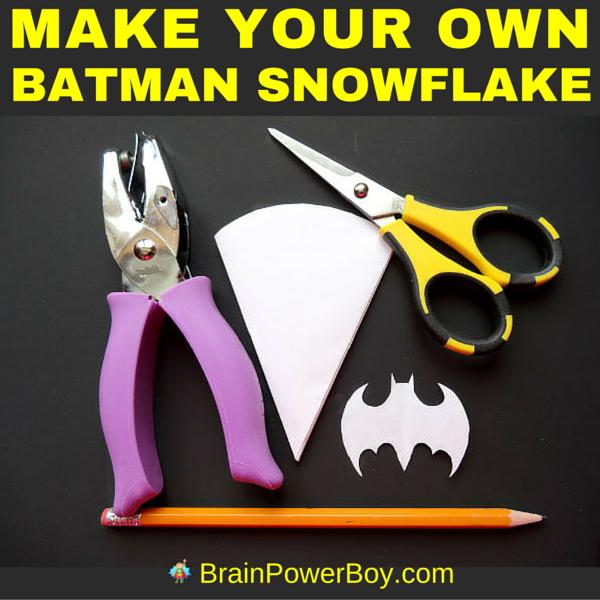 "Holy snowflake, Batman! Make your own Batman snowflake! Easy to follow instructions for a ""super"" Batman snowflake pattern."