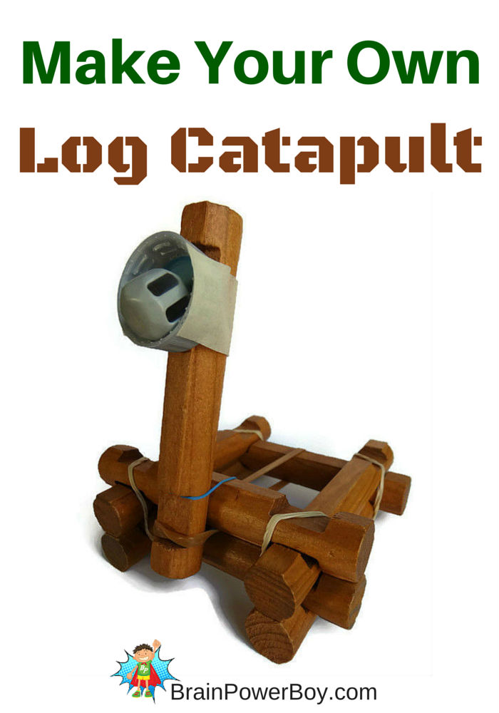 Fun to make and a blast to play with this log catapult is a winner! Step-by-step tutorial on site.