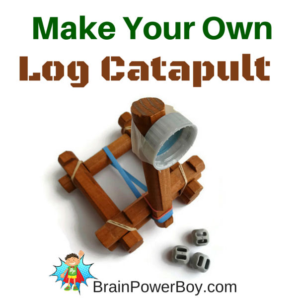 Easy to make and fun to play with log catapult.