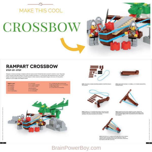 Make a LEGO Rampart Crossbow with the directions in the new book we reviewed. This is such a fun project that provides a whole lot of play value. Click to get the details now.