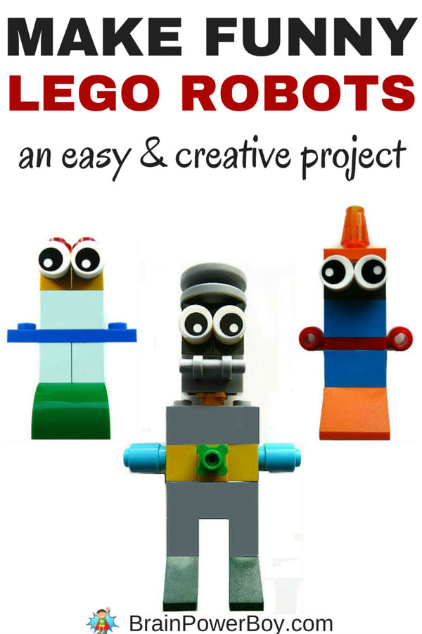 Make Funny Lego Robots! by Brain Power Boy
