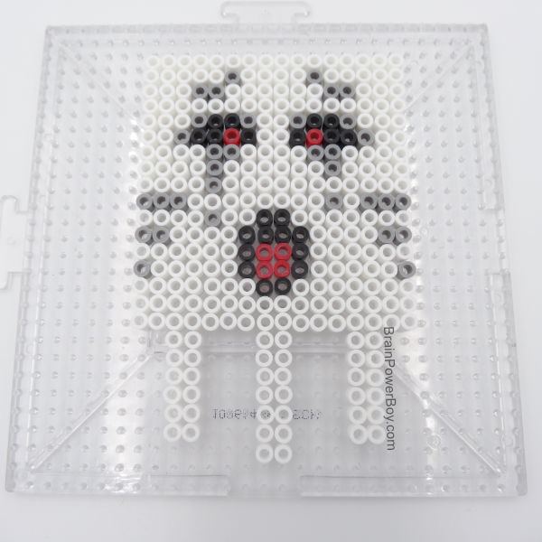 Minecraft Ghast on pegboard.