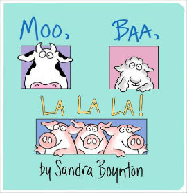 Moo Baa La La La is the perfect read aloud board book