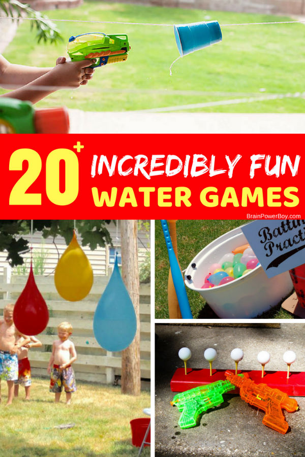 Looking for some fun summer play ideas you can do in your own backyard? Try these water games. Kids will keep cool, get exercise and have a blast!