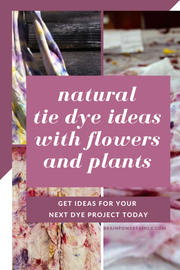Natural Tie Die Ideas made with flowers and plants