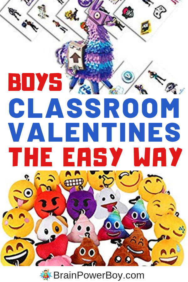 Candy free valentines for boys to give out. They will love these and it is super easy for you as well. Order, bag, give.