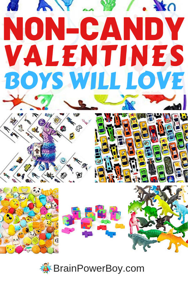 Non Candy Valentines for Boys: Quick & Easy for Moms!