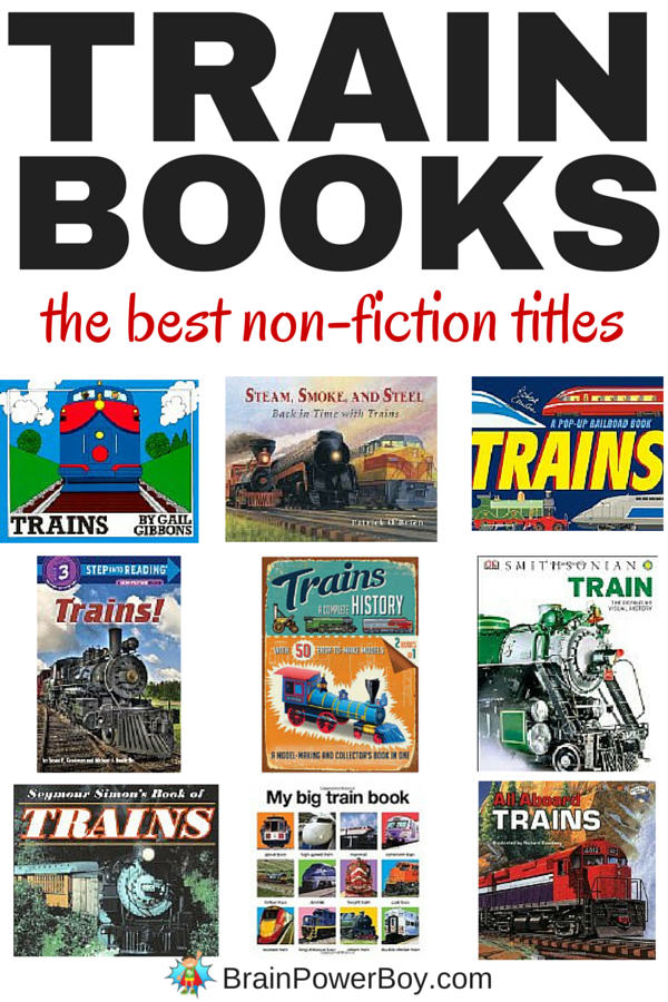 This selection of non-fiction train books is great for train fans. Everyone from your young engineer to teens will love these train books. Click to see annotated list.