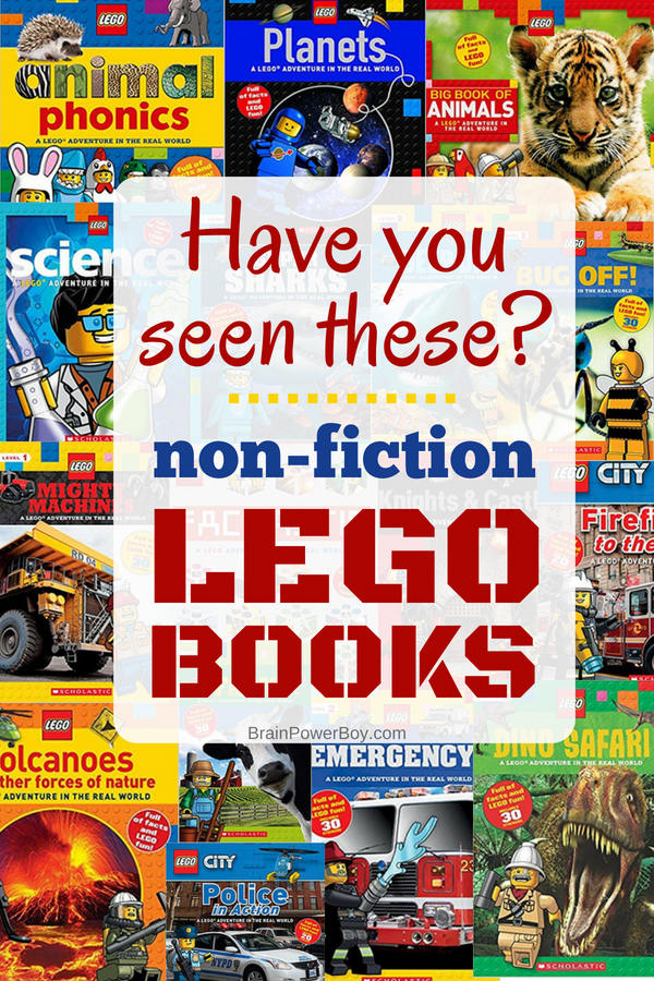 Did you know there are some incredible non-fiction LEGO books available? It's true! Totally worth getting! Click to see them all.