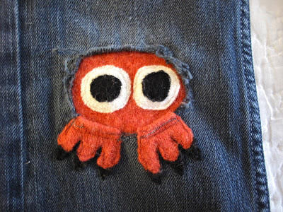 Octopus Patch Made from Recycled Sweater