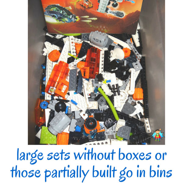 Tips for making it easy for kids to find their LEGO pieces. Includes tips for organizing big and small sets, LEGO bricks, minifigs and more.