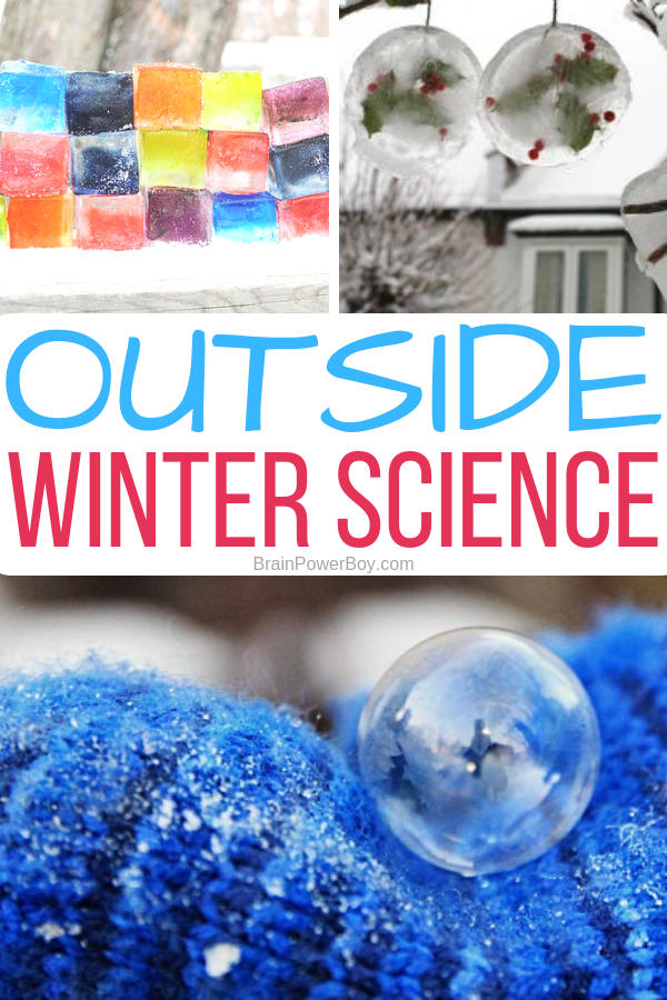 Playing outside while learning science! Now that is a great idea! Try these outside winter science activities for the win.