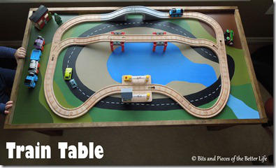 Painted Board Train Table