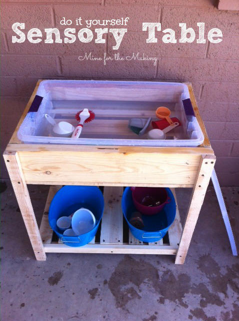 Pallet Wood Sensory Water Table