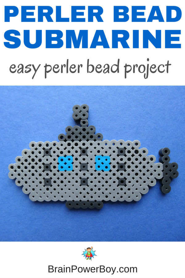 Easy submarine perler bead pattern that is great for Submarine Day - or any day!