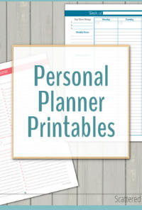 Personal Planner Printables - Scattered Squirrel